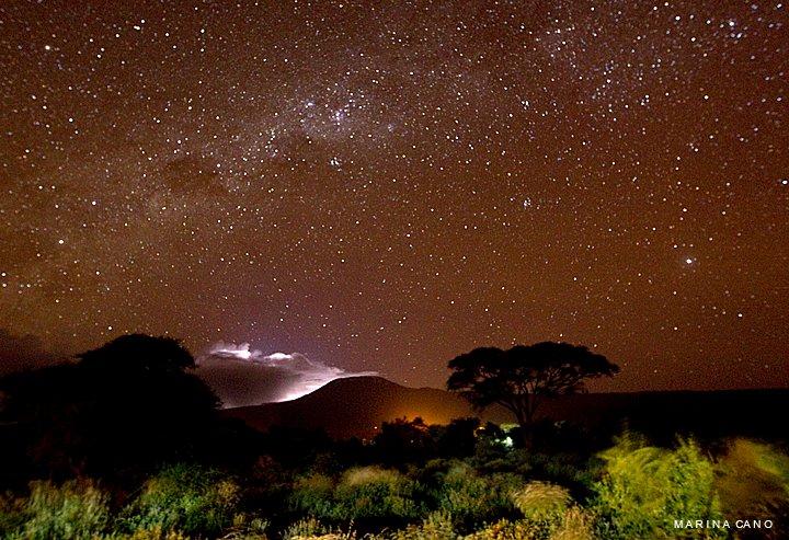 Tormenta en el Kilimanjaro. Foto: Marina Cano