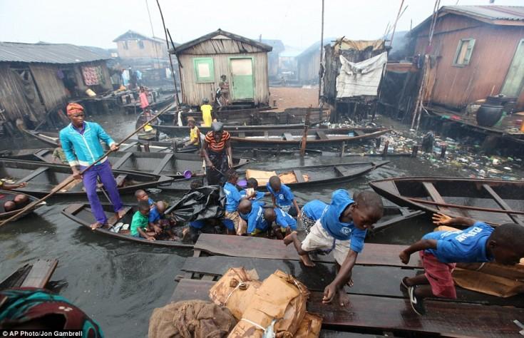 Makoko Slum. Foto: Jon Gambrell/Dailymail