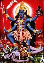 Diosa Kali de la mitología hindú