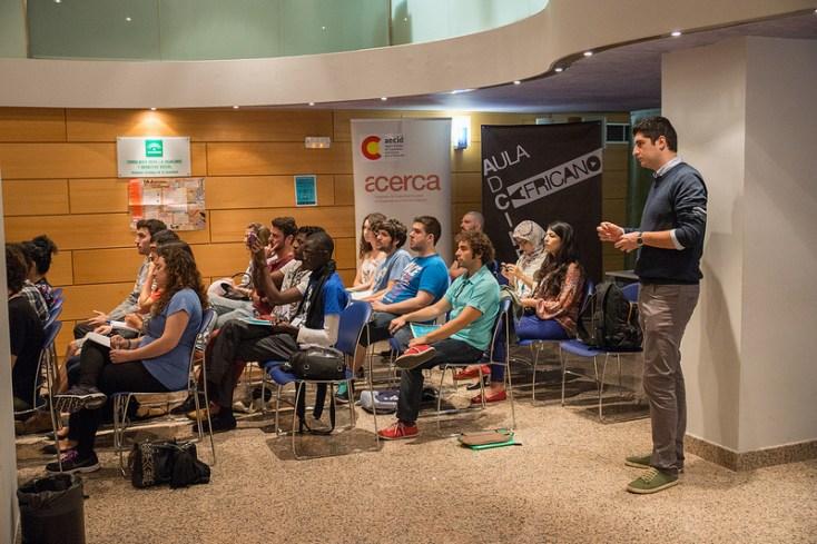 Alumnos del aula de crítica. Foto: Jose Wela.