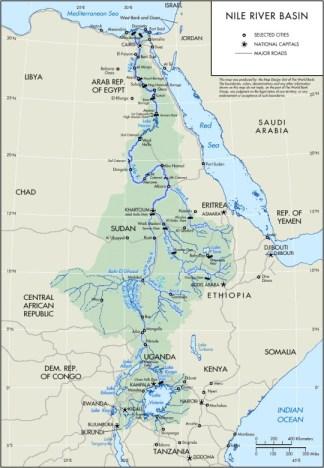 Países que baña el río Nilo.