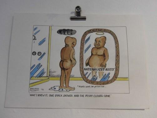 """""""Mirror Mirror"""" (""""¡Ah! Lo sabía. Una ducha rápido y las nubes fastidiosas se han ido."""")"""