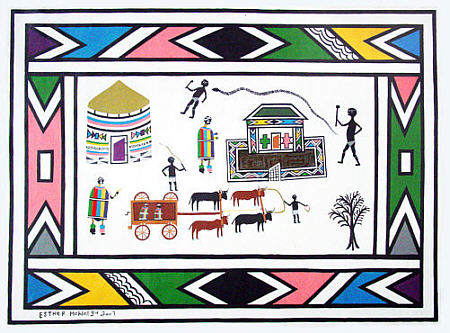 On the way to the party 2007- Esther Mahlangu