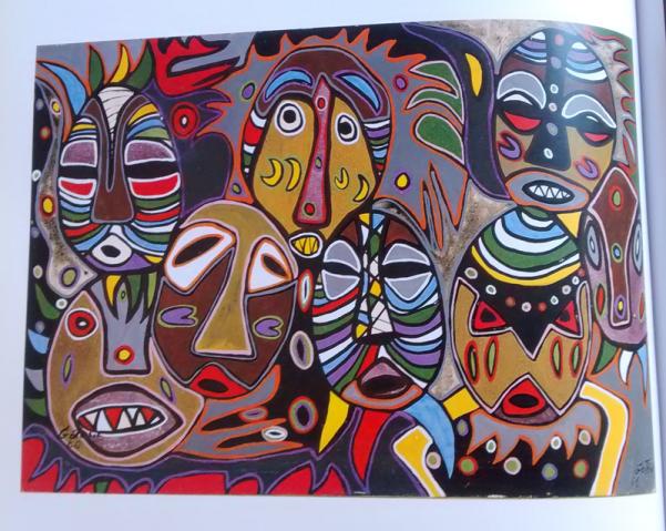 """Kebe Kebe Masks"" de Marcele Gotène, 1955"