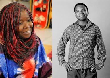 Agnès Agboton y Vamba Sherif. Fuente: blog del SILA y web del autor