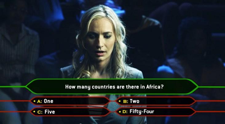Imagen de la pregunta final por la que el concursante podrá convertirse en un voluntario en África.