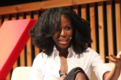 Taiye Selasi, durante su presencia en Barcelona. Foto: Carlos Bajo