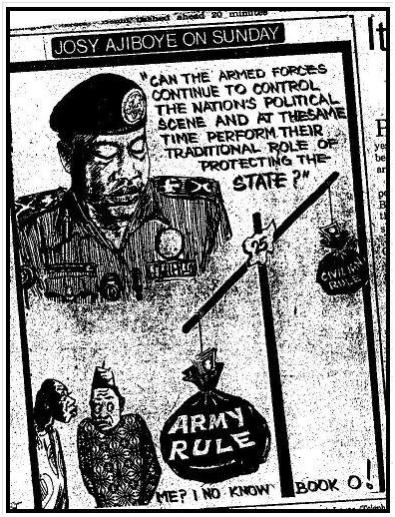 Fig. 9 Army Rule: Publicado en Sunday Times, 9 agosto 1987