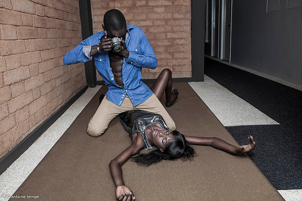 """Blow Up"", Dakar, 2013. Models: Viktor and Aminata. From the series ONOMOllywood by Antoine Tempé & Omar Victor Diop."