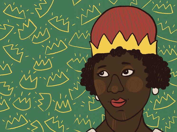 La imagen del Nzinga que ilustra la biografía de la reina angoleña