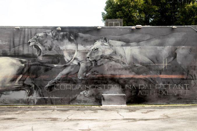 Mural en Miami, 2016 - Fotografía cedida por Faith XLVII.