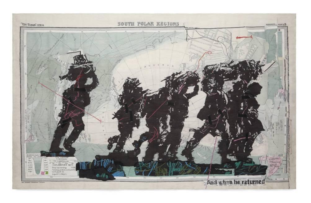 William Kentridge y The Stephens Tapestry Studio, tapiz South Polar Regions, 2016. CCCB. cortesia de l'artista i GoodmanGallery, Johannesburg.