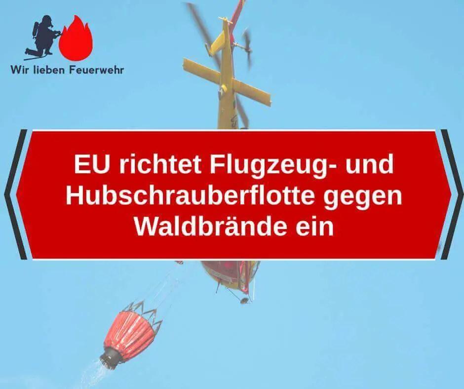 EU richtet Flugzeug- und Hubschrauberflotte gegen Waldbrände ein