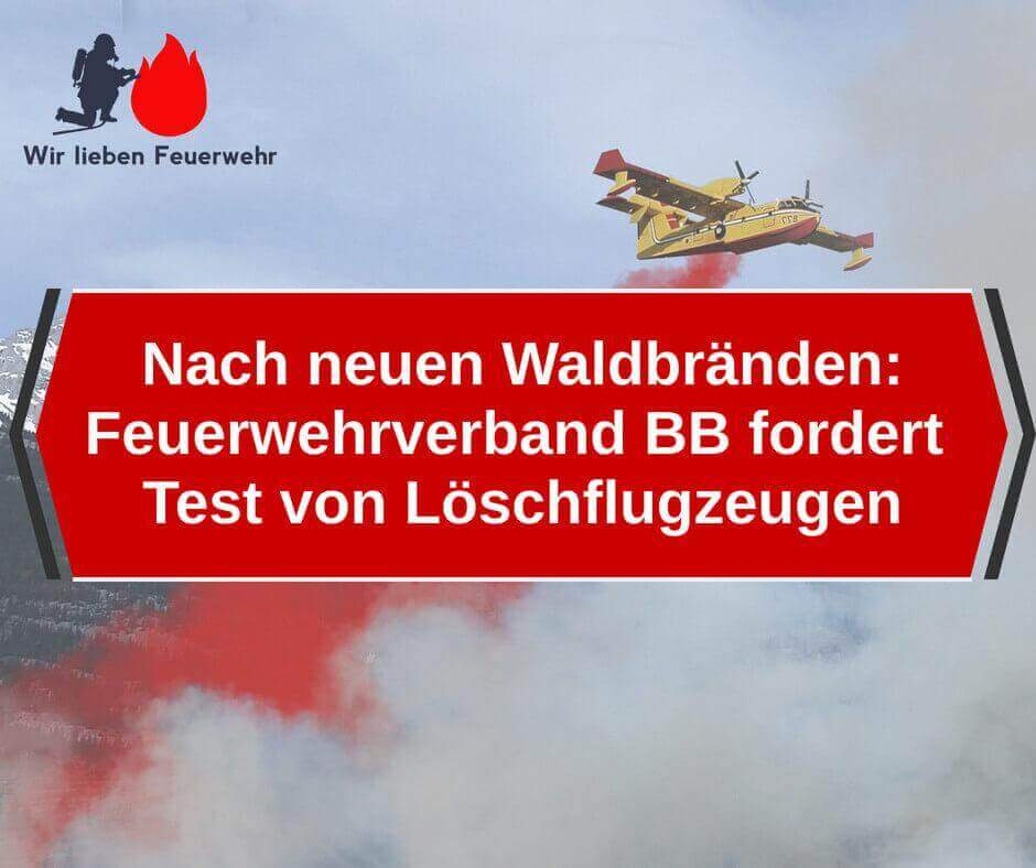 Nach neuen Waldbränden: Feuerwehrverband Brandenburg fordert Test von Löschflugzeugen