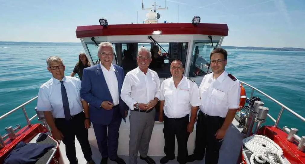 Neues Arbeitsboot für Ölwehr auf dem Bodensee