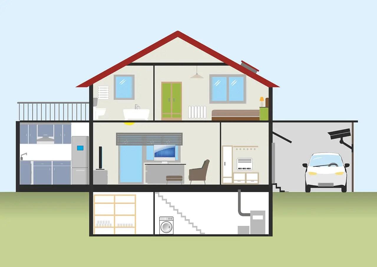 Querschnitt eines Hauses