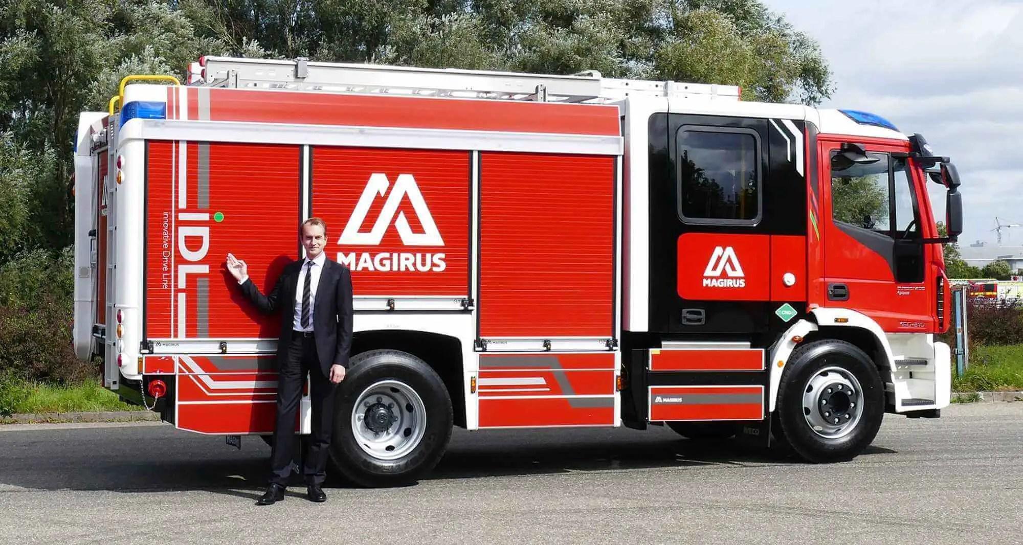Innovative Drive Line: Magirus stellt elektro- und gasbetriebene Löschfahrzeuge vor