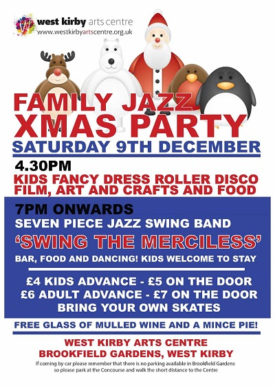 family_jazz_christmas_party poster