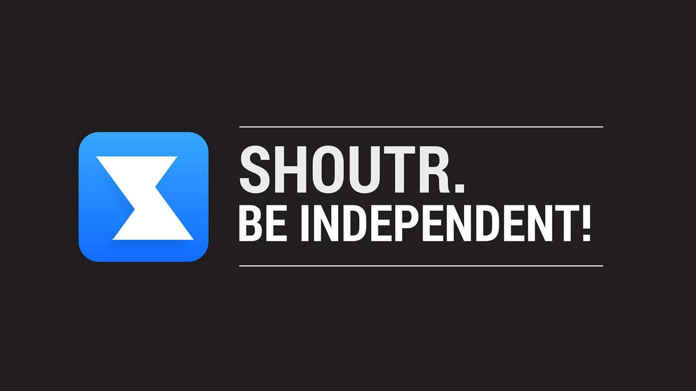 SHOUTR App Be independent CeBit Innovation Award 2014 Logo