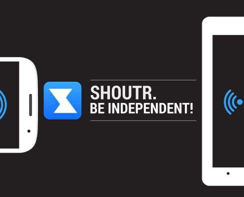 SHOUTR App Be independent Erklärvideo