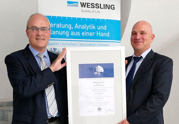 WESSLING Deutschland erhält das Gütesiegel Sicher mit System