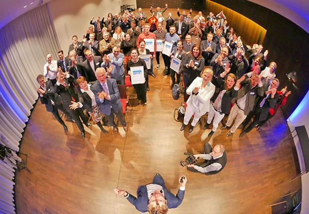 Die WESSLING Geschäftsführung gratuliert den Gewinner des mit 10.000 Euro dotierten WESSLING Innovation Award 2018