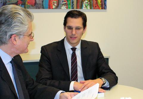 Dr Bernhard Rieder (rechts) ist Partner und Gesellschaftsrechtsexperte bei DORDA BRUGGER JORDIS in Wien.