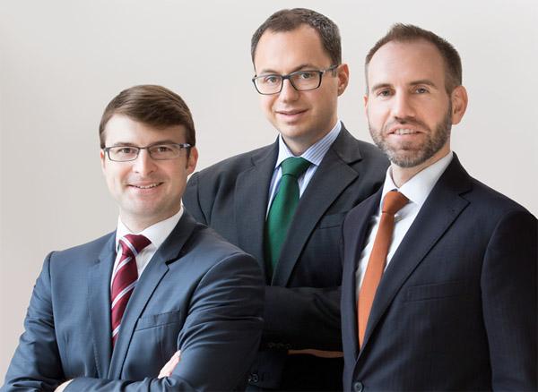 Dr. Axel Guttmann, Dr. David Seidl und Dr. Karl Gladt