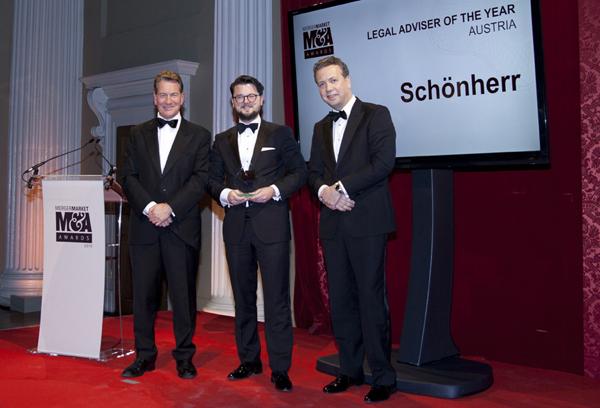Mergermarket Awards_Michael Portillo Thomas Kulnigg Caspar Huith