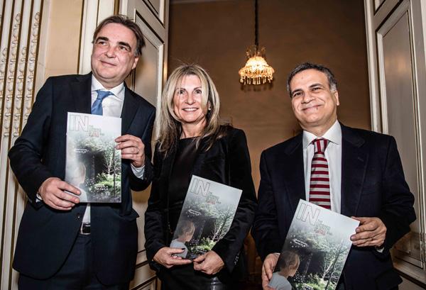 Gerald Ganzger, Claudia Gradwohl und Giorgio Marrapodi