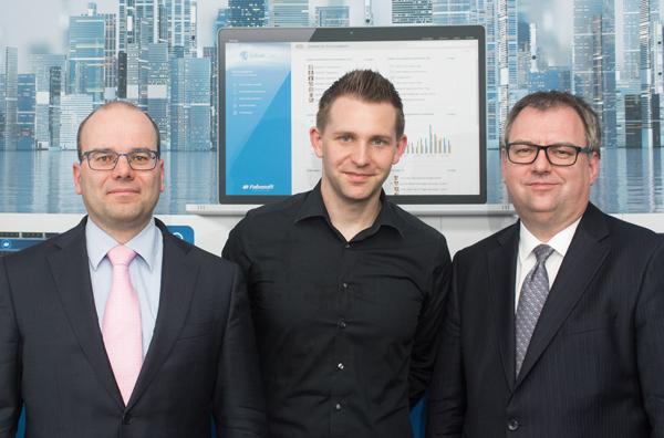 Rainer Knyrim, Partner Preslmayr Rechtsanwälte; Max Schrems, Datenschutzaktivist und Helmut Fallmann, Fabasoft-Vorstand