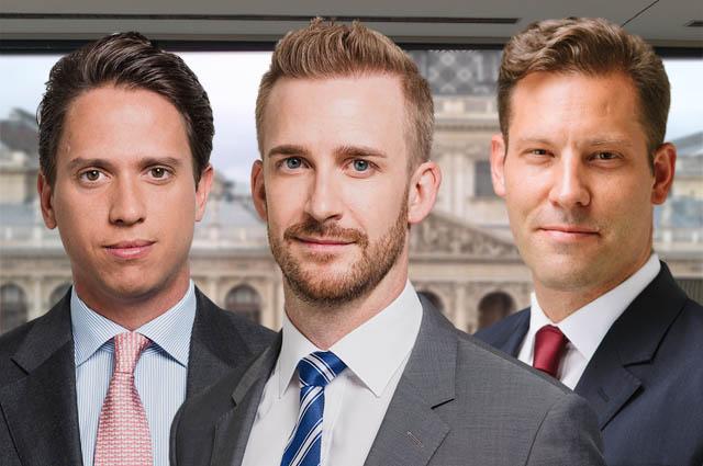Alexander Karl, Clemens Burian und Oliver Thurin