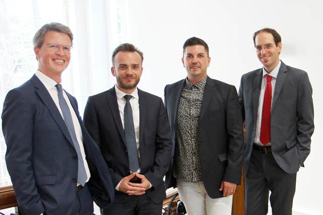 Martin Niederhuber, David Suchanek, Markus Wohlmuth und Peter Sander