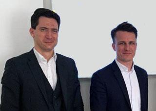 Philipp Nierlich (Notariat nhp) und Mario Eibl (GLEAM),
