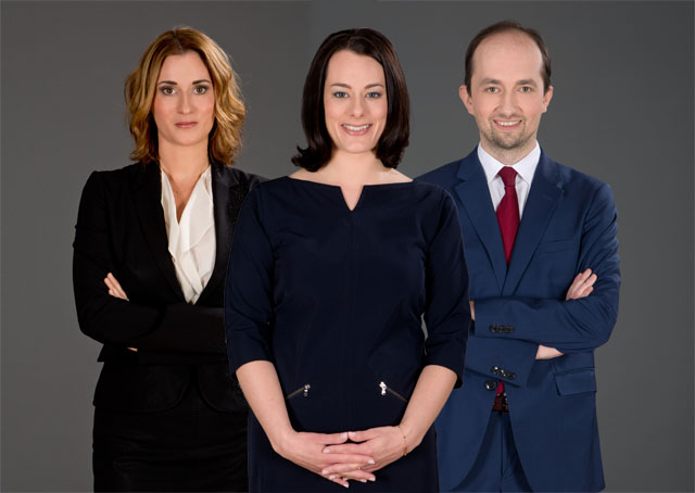 Michaela Wernitznigg-Kittel, Veronika Appl und Stefan Panic