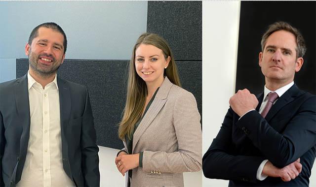 RA Martin Kollar, RAA Christiane Feichter  - beide Corporate Team bei Jarolim Partner, RA Volkert Sackmann