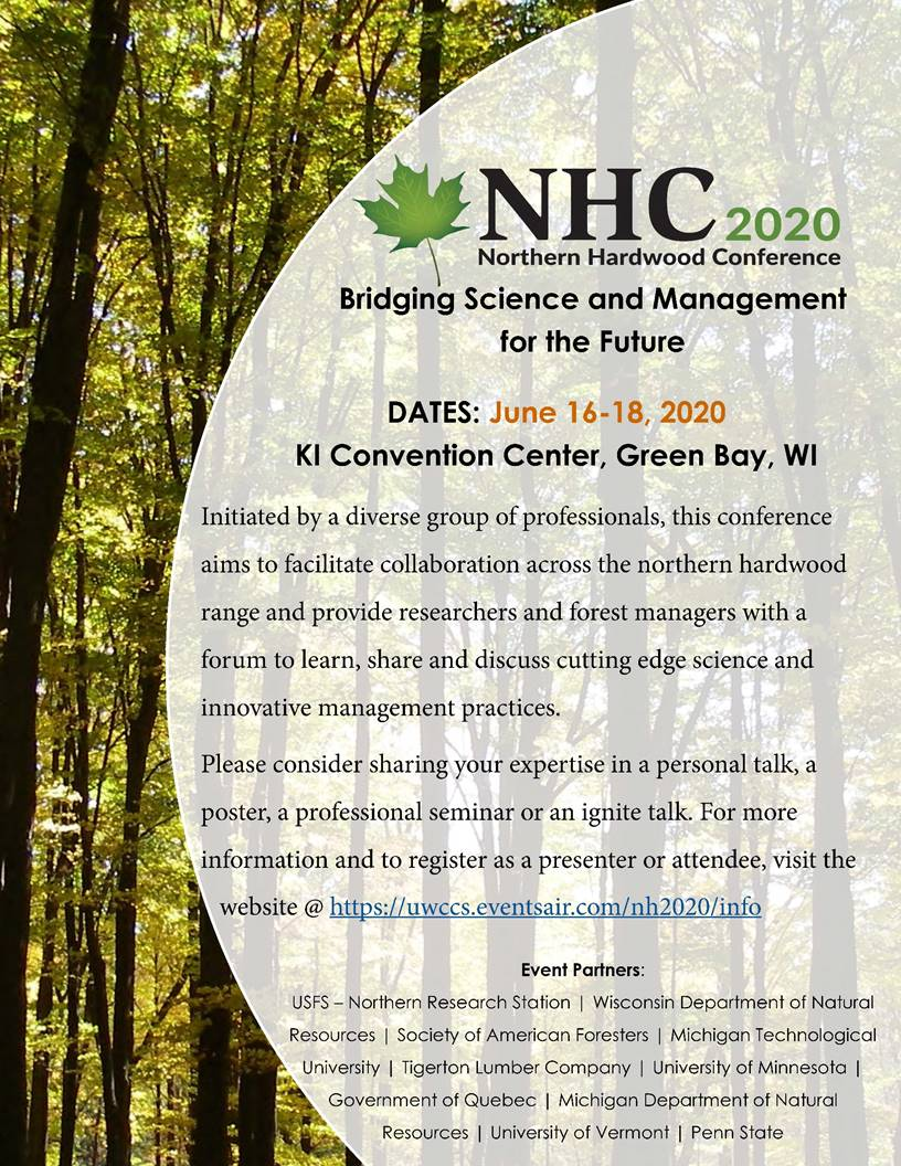 Forests keep our planet cool, clean the air we breathe, create jobs and so much more. Northern Hardwoods Conference 2021
