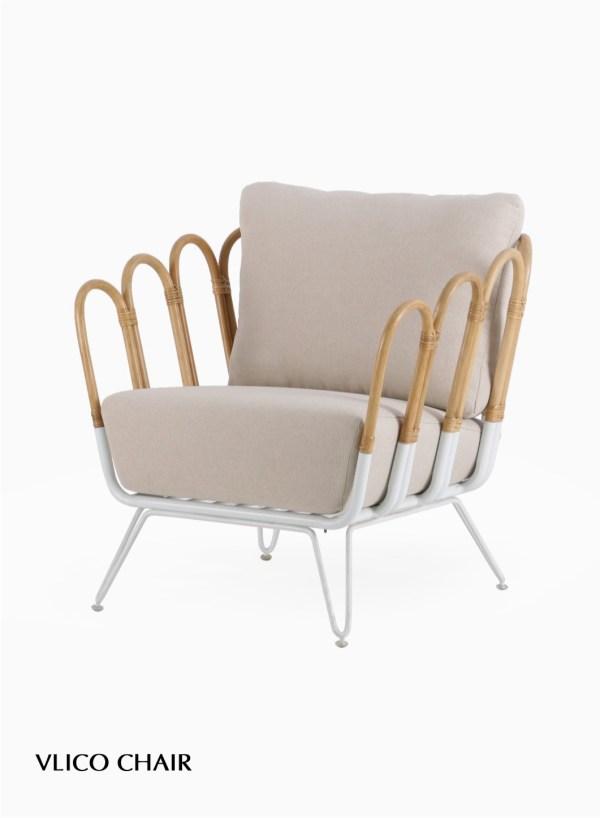 Vlico Rattan Arm Chair
