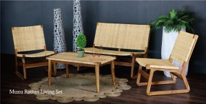 Muzu Rattan Living Set