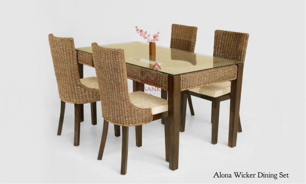 Alona Rattan Dining Set