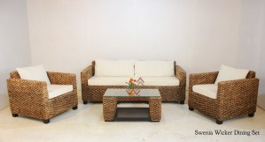Swenia Wicker Living Set