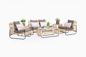 Akko Rattan Living Set, Indonesia Rattan Living, Living Set Rattan