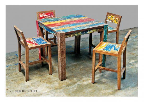 Waste Wood Furniture Dining Set, Reclaimed Teak Furniture, Recycle Furniture