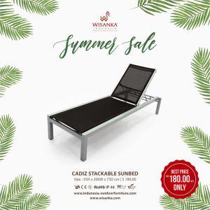 Cadiz Stackable Sunbed Promo Outdoor Furniture