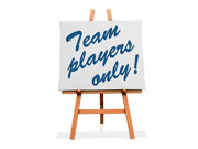 Team Players Only Display
