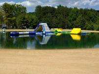 Natural River with inflable Game