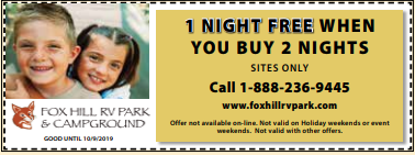 Fox Hill RV Park Coupon