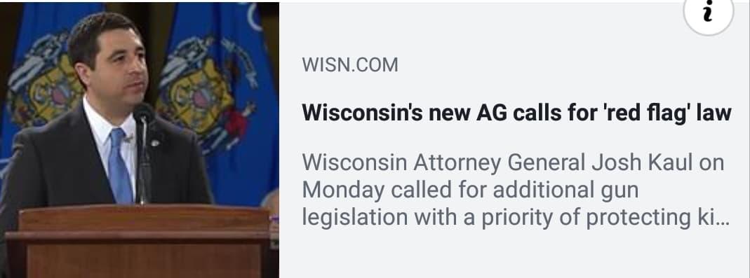 WI Attorney General DEMANDS Radical Gun Control!