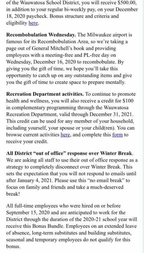 wauwatosa teachers bonuses