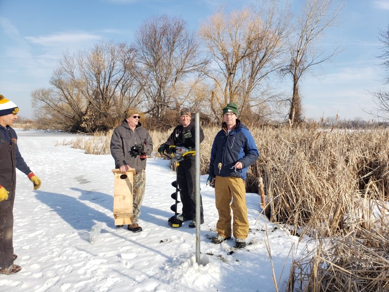 Valley Wood Duck Box Install March 2020.1